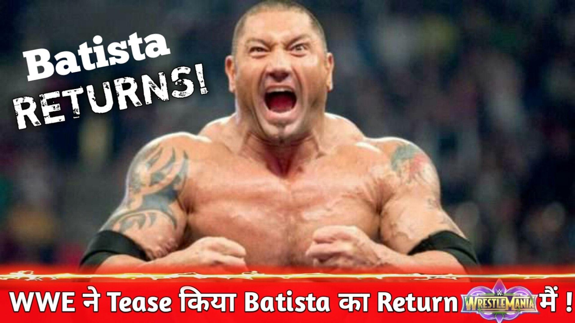WWE Tease Batista Returns in WWE ! When Batista Returns in WWE?
