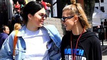 Kendall Jenner & Hailey Baldwin Spotted Together At 'March For Our Lives' Rally   Hollywood Buzz
