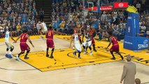 STEPHEN CURRY PLAYING AS A SMALL FORWARD ON NBA 2K17! CURRY DUNKS ON LEBRON JAMES