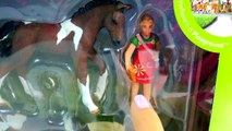 Schleich Horses Feeding Playset with Stallion , Baby Horse Foal & Girl - Unboxing Video