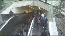 Un escalator avale un homme