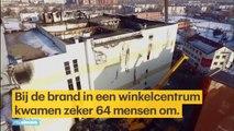 Ultieme paniek: 11-jarige jongen springt uit brandend winkelcentrum Rusland - RTL NIEUWS