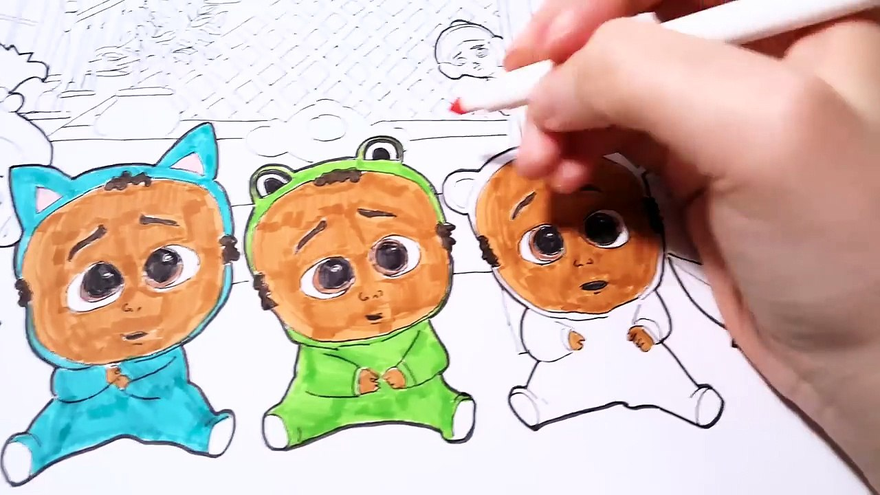 The Boss Baby Movie Triplets Jimbo Staci Coloring Pages Book Video For Kids 影片 Dailymotion