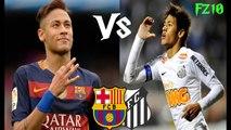 Neymar Jr in FC Barcelona vs Neymar Jr in Santos FC  HD 