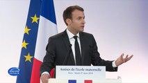 L'école maternelle devient obligatoire dès la rentrée 2019, annonce Emmanuel Macron
