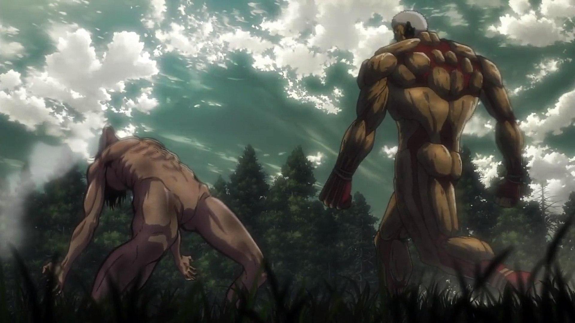 Eren Vs Armored Titan Full Fight Hd Attack On Titan Season 2