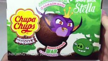 Angry Birds Stella сюрпризы как Киндеры ( Unboxing Surprise Eggs Angry Birds)