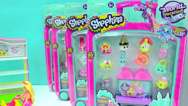 Barbie Fills Up Shopping Cart With World Vacation Shopkins Season 8 At Small Mart