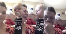 Bebé sabe como consolar a sua mãe quando esta chora... HILARIANTE!