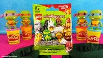 Lego Teenage Mutant Ninja Turtles Play-Doh Surprise Eggs Michelangelo TMNT Ninja Turtles Toys