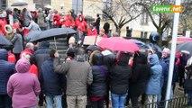 Manifestation avant le conseil communal d'Arlon