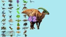 100 dinosaurios! Los números del 1 al 100 en español para niños. Contar hasta 100 con dinosaurios
