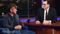 Sean Penn Visits 'Late Show' on Ambien, Talks Politics, New Book, Acting | THR News