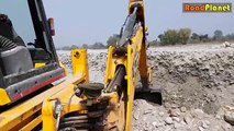 Lazy Driver in JCB Dozer - JCB Dozer Loading Stone In Truck - JCB VIDEO
