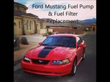 how to change a fuel pump, fuel filter- ford mustang 1994-2004 sn95