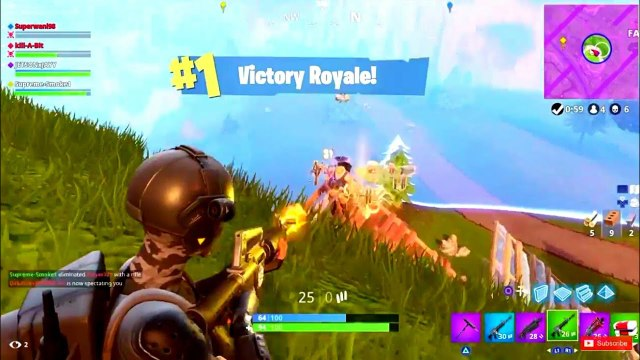 1 Victory Royale 6 Kills Fortnite Battle Royale Season 3 Tier 100 Top Player Gameplay