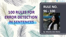 100 Rules for Error Detection in Sentences in Hindi - Rule 96 to 100 by Niharika John Mehra
