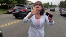 Crazy Lady With Road Rage. Police never came, and she eventually drowe away