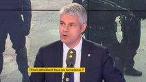 """""""Pour expliquer cette montée du terrorisme et de l'intégrisme, le président de la République comme M. Castaner mettent en avant l'excuse sociale (...) Il transforme des bourreaux en victimes"""" - Laurent Wauquiez"""