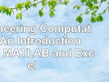 Engineering Computation An Introduction Using MATLAB and Excel 948ba04c