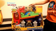 Toy Story Pizza Planet Playset Imaginext Buzz Lightyear Zurg Allien + Woody Bullseye