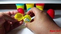 Oyun Hamurundan Sürpriz Yumurtalar Kinder Sürpriz Şirinler Oyuncakları