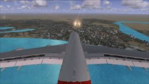 [✈FSX] BAD Landing on WRONG RUNWAY at Dubai Intl. Airport - Emirates A380 [Tailcam-View/HD]