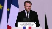 Hommage d'Arnaud Beltrame : discours d'Emmanuel Macron