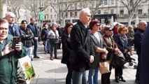 Minute silence Avignon pour les victimes des attentats