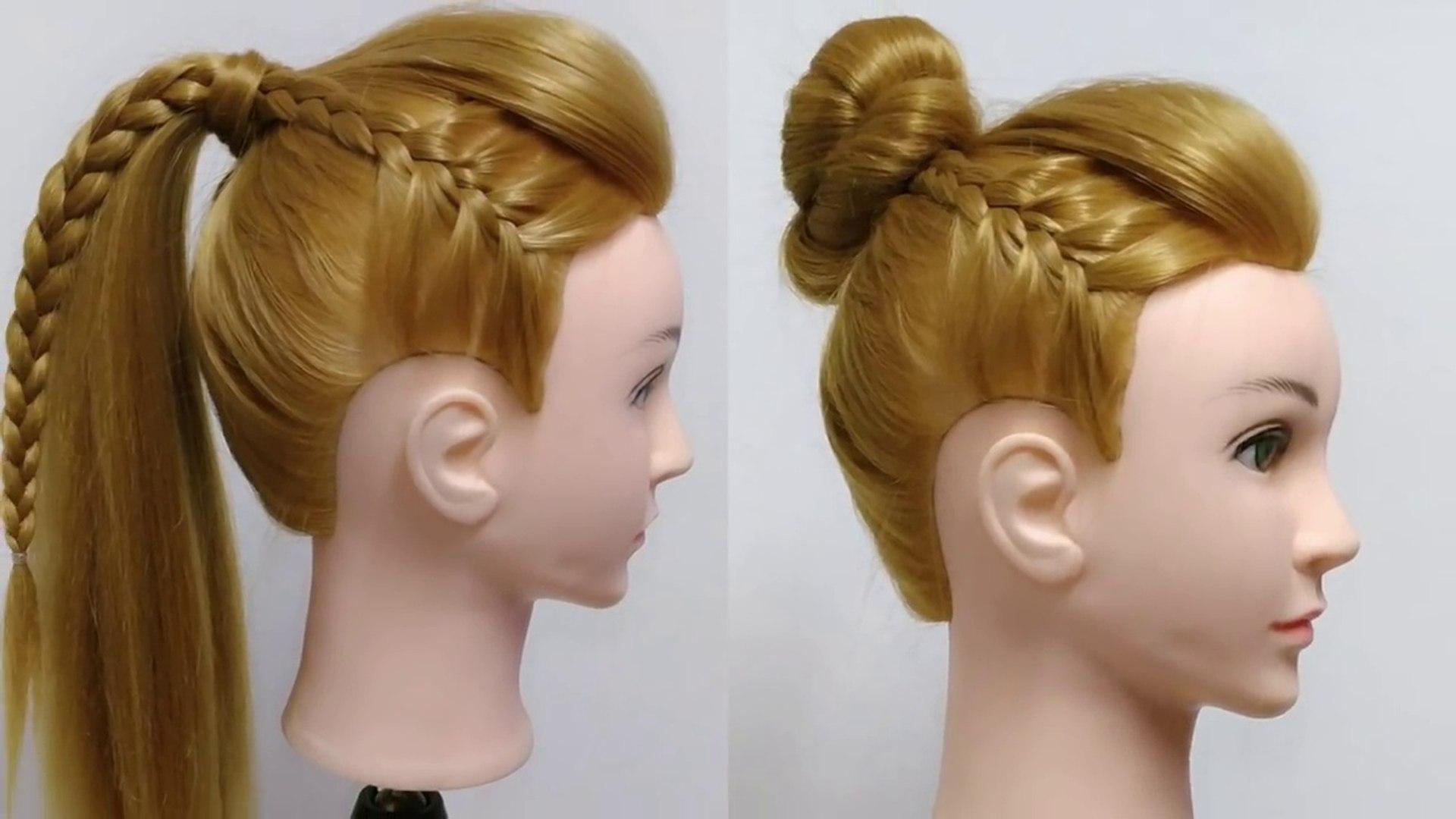 Peinados con trenzas coleta y mono