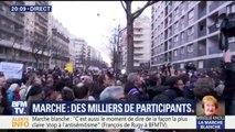 """Marche blanche: une """"Marseillaise"""" entonnée en bas de l'immeuble de Mireille Knoll"""