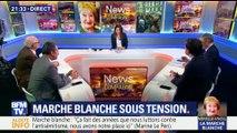 Marche blanche pour Mireille Knoll: Marine Le Pen et Jean-Luc Mélenchon hués par des participants (2/2)