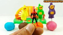 Play & Learn Colors with Teletubbies Lollipops Surprise Toys Peppa Pig Paw Patrol Spider-Man
