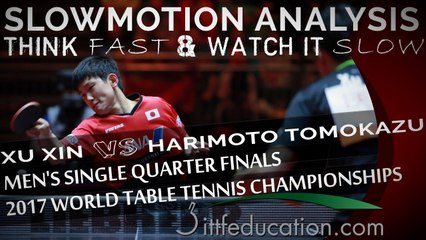 Slowmotion Analysis - Xu Xin VS Harimoto Tomokazu - 3rd Ball Attack - 2017 WTTC
