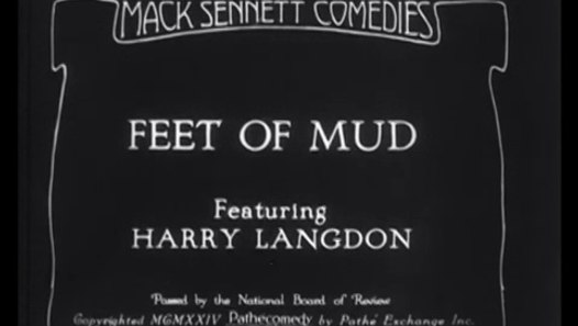 Harry Langdon: Feet of Mud (1924)