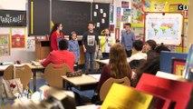 Les enfants d'Au Tableau présentent un rap à Christiane Taubira ! - C8
