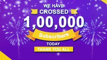 1,000,000 Subscribers  Thanks To My Subscriber Family & My Viewers  Keep Watching