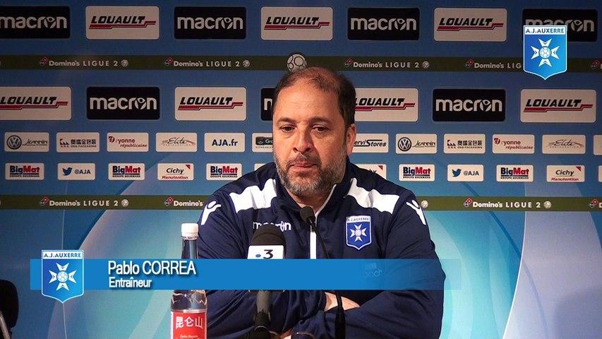 Conférence de presse de Pablo Correa avant AJA - FBBP