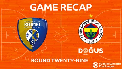EuroLeague 2017-18 Highlights Regular Season Round 29 video: Khimki 64-73 Fenerbahce
