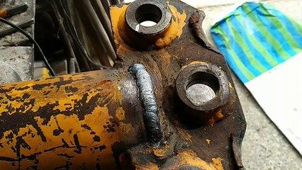 guida: come saldare ad elettrodo un pistone idraulico