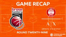 Highlights: Brose Bamberg - AX Armani Exchange Olimpia Milan