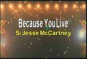 Jesse McCartney Because You Live Karaoke Version