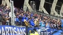 La joie des supporters troyens après le but de Niane