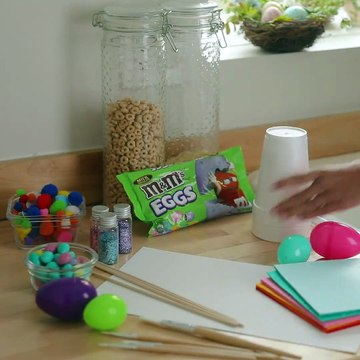 Easter Bunny Candy SurpriseThis Easter Bunny is the gift that keeps on giving. Make one this Easter with your family! Sponsored by M&M'S.