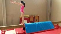 Vidéo des entraînements - Faustine travail du flip sur le poutre (BM1)
