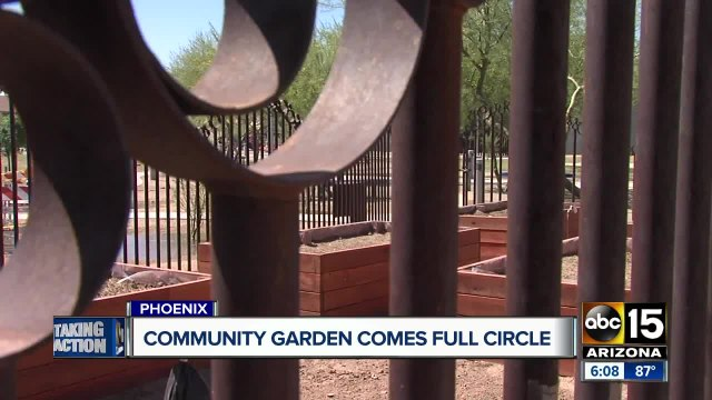 Central Phoenix community excited over re-opening of community garden