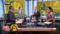 Chris Broussard on Kevin Durant's 5th ejection in Warriors' loss to Bucks | FIRST THINGS FIRST