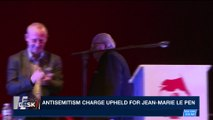 i24NEWS DESK | Antisemitism charge upheld for Jean-Marie Le Pen | Saturday, March 31st 2018