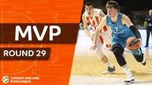 Turkish Airlines EuroLeague Regular Season Round 29 MVP:  Luka Doncic, Real Madrid