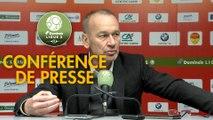 Conférence de presse US Orléans - Stade Brestois 29 (1-1) : Didier OLLE-NICOLLE (USO) - Jean-Marc FURLAN (BREST) - 2017/2018